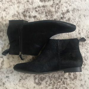 Calf Skin Ankle Boots